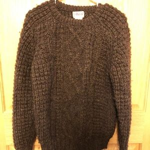 Men's Orvis cable knit Sweater brown size 38EU